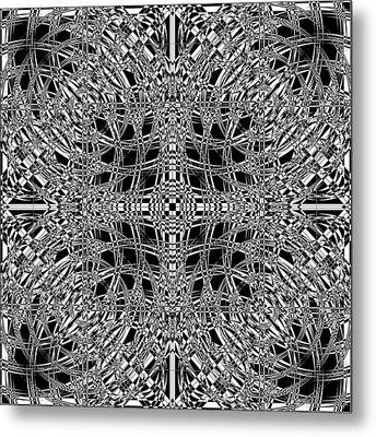 B W Sq 8 Metal Print