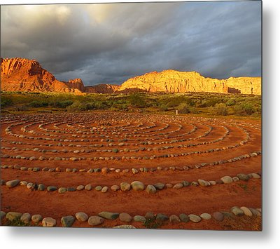 Metal Print featuring the photograph Mindfulness In St. George Utah by Jean Marie Maggi