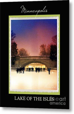 Mineapolis Seasons Winter Metal Print