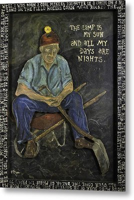 Miner - Lamp Is My Sun Metal Print