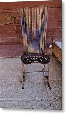 Metal Print featuring the photograph Miner's Rocker by Fran Riley