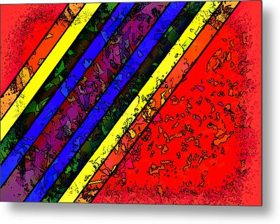 Mingling Stripes Metal Print by Bartz Johnson