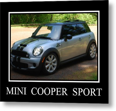 Mini Cooper Sport Metal Print by Kathy Sampson
