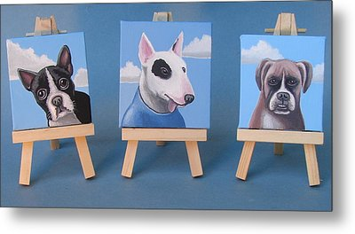 Mini Dog Portraits 2 Metal Print by Stuart Swartz