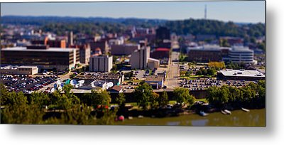 Mini Downtown Parkersburg Metal Print by Jonny D