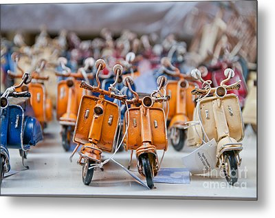 Mini Scooters Metal Print