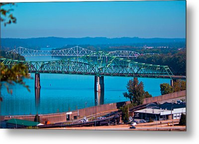 Miniature Bridge Metal Print