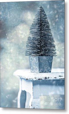 Miniature Christmas Tree Metal Print