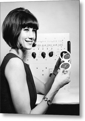 Miniature Computer Components Metal Print by Underwood Archives