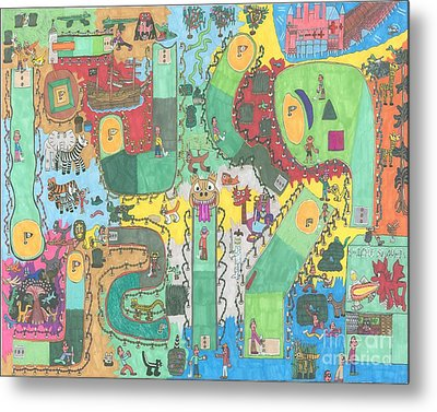 Miniature Golf Metal Print