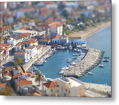 Miniature Port Metal Print by Vicki Spindler