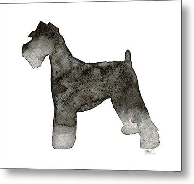 Metal Print featuring the painting Miniature Schnauzer by Laura Bell