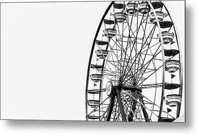 Minimalist Ferris Wheel Metal Print
