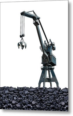 Mining Metal Print by Victor Habbick Visions