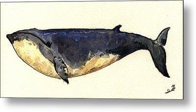 Minke Whale Metal Print by Juan  Bosco