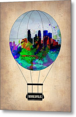 Minneapolis Air Balloon Metal Print