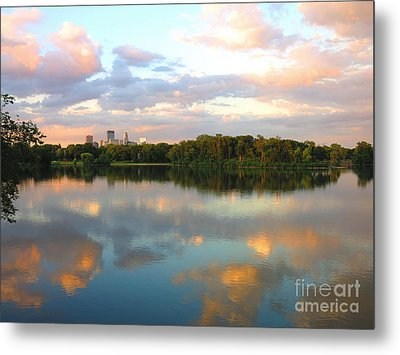 Minneapolis Lakes Metal Print by Heidi Hermes