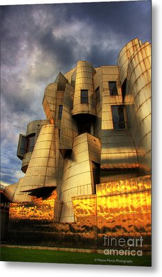 Minneapolis Skyline Photography Weisman Museum Metal Print