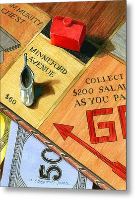 Minneford Monopoly Metal Print by Marguerite Chadwick-Juner