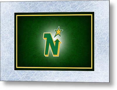 Minnesota North Stars Metal Print by Joe Hamilton