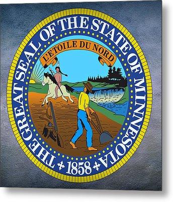 Minnesota State Seal Metal Print by Movie Poster Prints