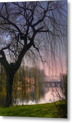 Minnewater Lake Bruges Metal Print