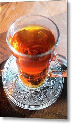 Mint Tea, Cafe, Amman, Jordan Metal Print by Peter Adams