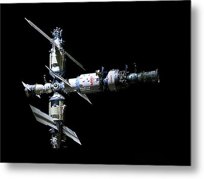 Mir Space Station Metal Print by Babak Tafreshi