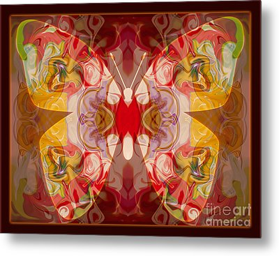 Miracles Can Happen Abstract Butterfly Artwork Metal Print by Omaste Witkowski