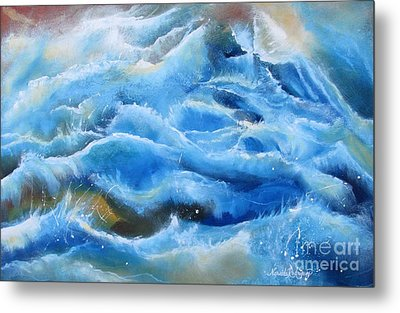 Metal Print featuring the painting Miracles by Nereida Rodriguez