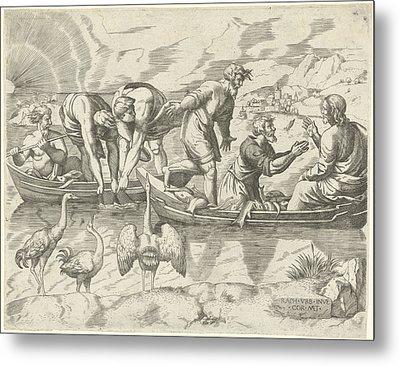 Miraculous Fishing, Cornelis Massijs Metal Print