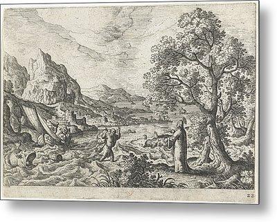 Miraculous Fishing, Hans Bol, Anonymous Metal Print