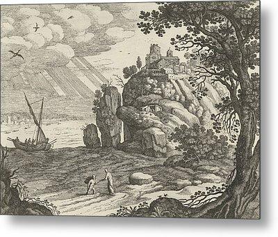 Miraculous Fishing, Willem Van Nieulandt II Metal Print