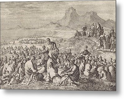 Miraculous Multiplication Of The Seven Loaves And The Two Metal Print