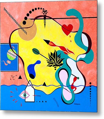 Miro Miro On The Wall Metal Print by Thomas Gronowski