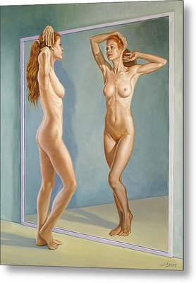 Mirror Image Metal Print by Paul Krapf