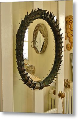 Metal Print featuring the photograph Mirror Mirror by Jean Goodwin Brooks