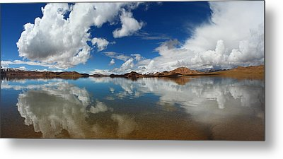 Mirror On The Highland Metal Print by Afrison Ma
