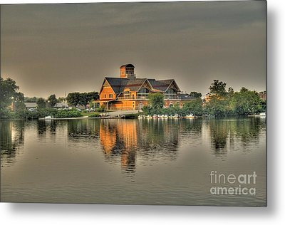 Metal Print featuring the photograph Mirrored Boat House by Jim Lepard