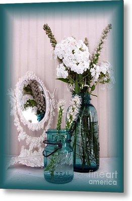 Mirrored Bouquet 1 Metal Print