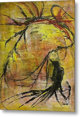 Metal Print featuring the painting Mischievous by Jane Chesnut