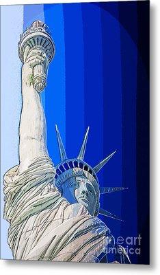 Miss Liberty Metal Print