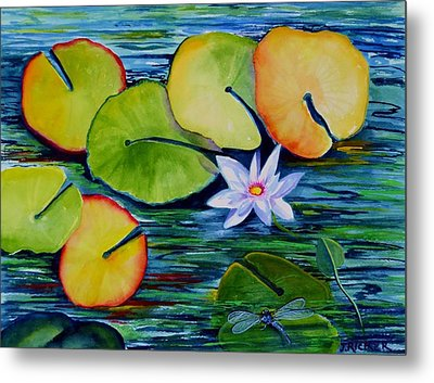 Whimsical Waterlily Metal Print