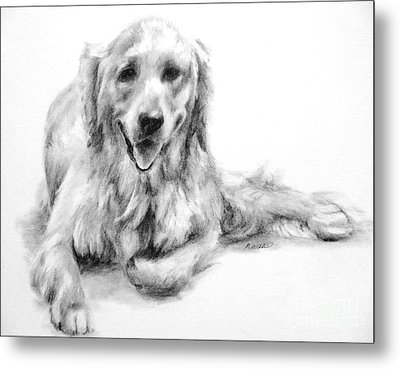 Metal Print featuring the drawing Miss Maddie  by Meagan  Visser