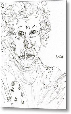 Miss Marple Sketch II Metal Print by Rachel Scott