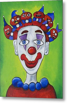 Miss.curly Clown Metal Print by Patricia Arroyo