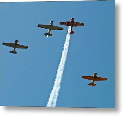 Metal Print featuring the photograph Missing Man Flyover by Allen Sheffield