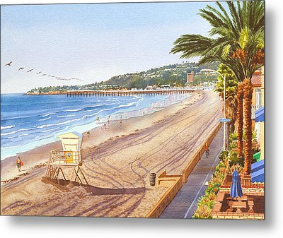 Mission Beach San Diego Metal Print