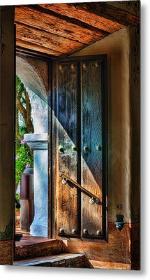 Mission Door Metal Print