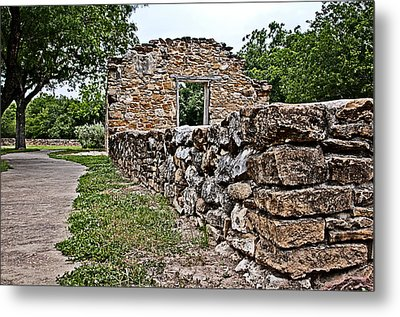 Metal Print featuring the photograph Mission Espada Ruins by Andy Crawford